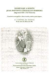 Homenaje a Mosén Joan Baptista Cabanilles Barberà